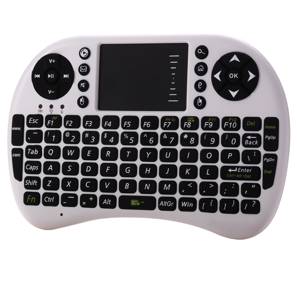 2.4Ghz Russian English Version Mini USB Wireless Keyboard Touchpad Air Mouse Fly Mouse Remote Control for Android iOS TV Box(China (Mainland))