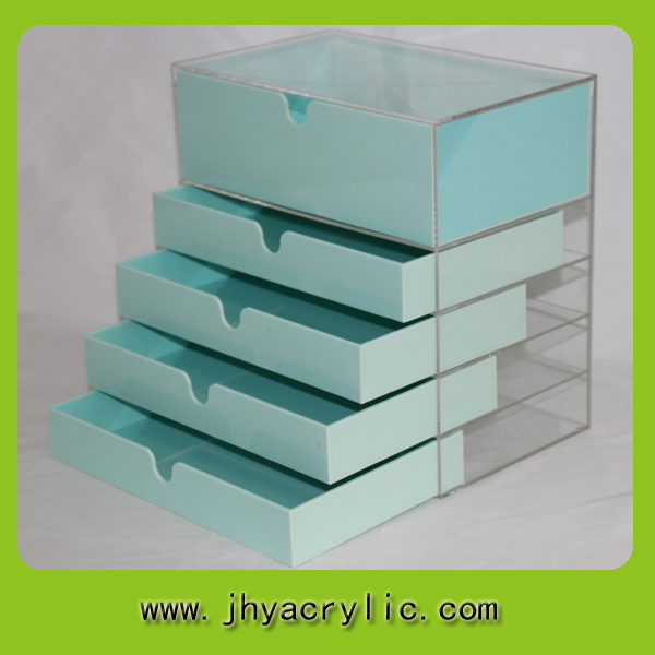 Acrylic Clear Cube Makeup Organizer W Drawers Display Mugeek - Acrylic cube makeup organizer with drawers