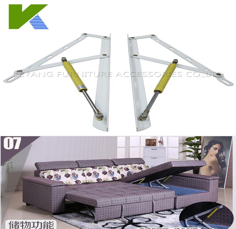 Adjustable Folding Sofa Bed Storage Mechanism Hinge With Gas Spring(China (Mainland))