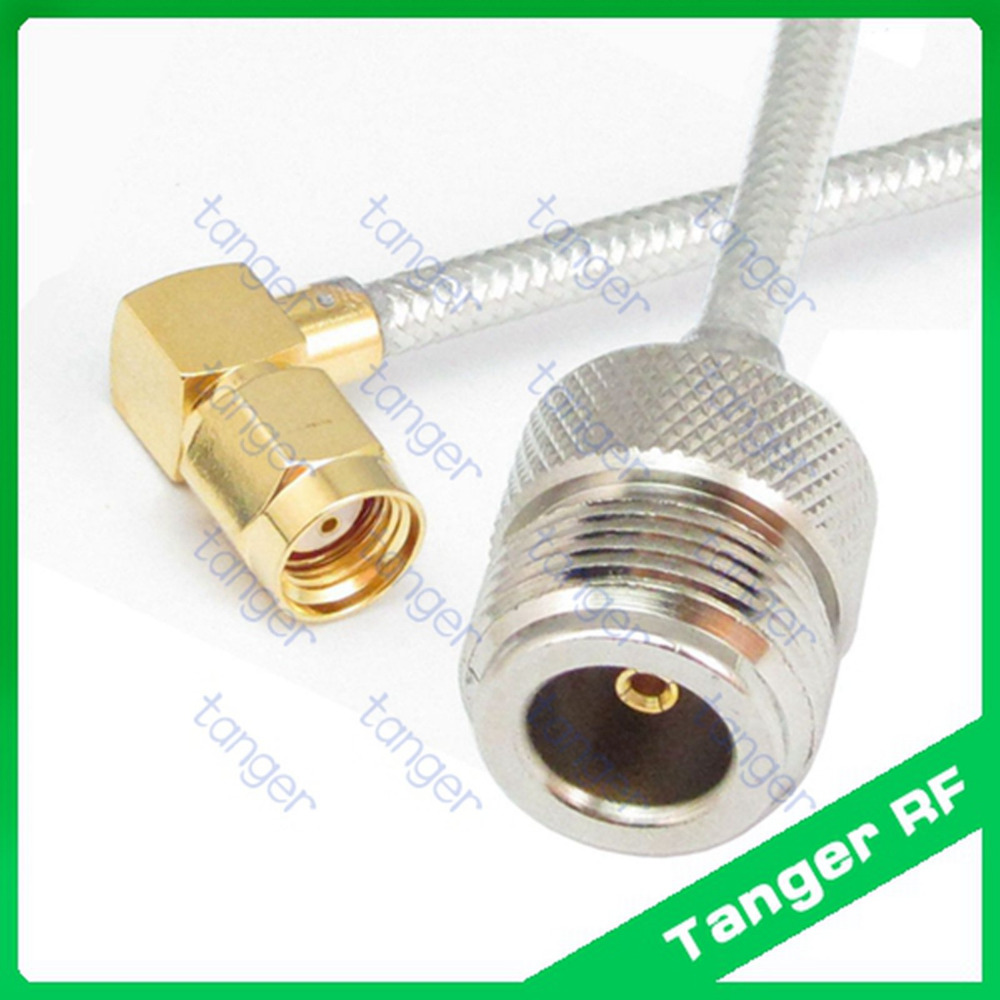 N female to RP-SMA male right angle connector with 8inch 8 20cm RG402 RG141 RG-402 Semi Flex Coaxial Jumper cable Low Loss Coax<br><br>Aliexpress