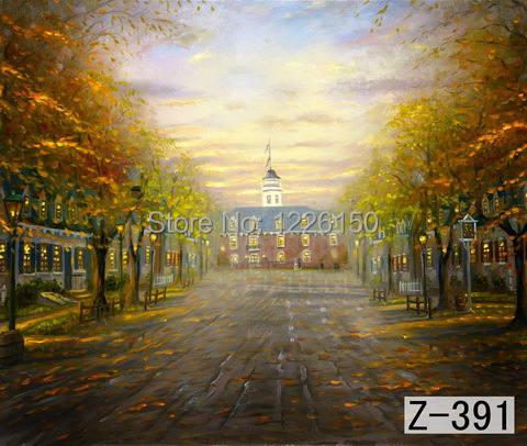 Mysterious scenic Backdrop z 391 10ft x20ft Hand Painted Photography Background estudio fotografico backgrounds for font