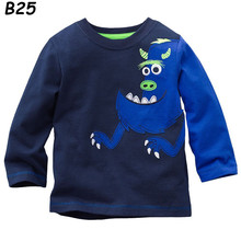Clearance Boys T shirt Kids Tees Baby Boy tshirts Children tees Long Sleeve 100 Cotton Cars