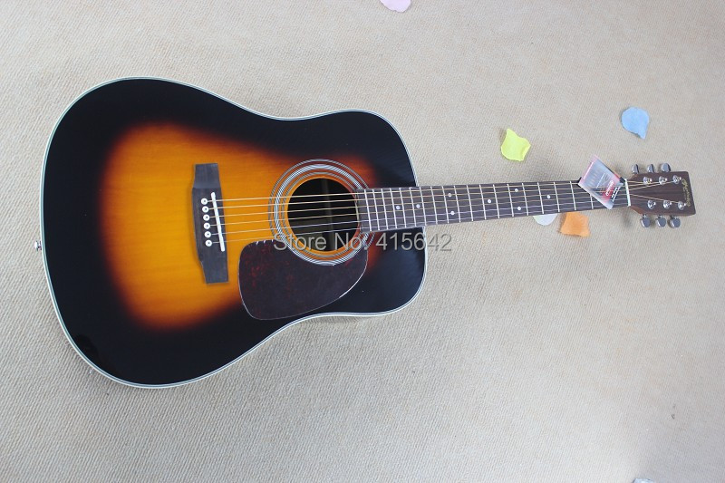 3.New Mt naretue spruce body EST 1833 Dreadnought Acoustic Electric Guitar(China (Mainland))