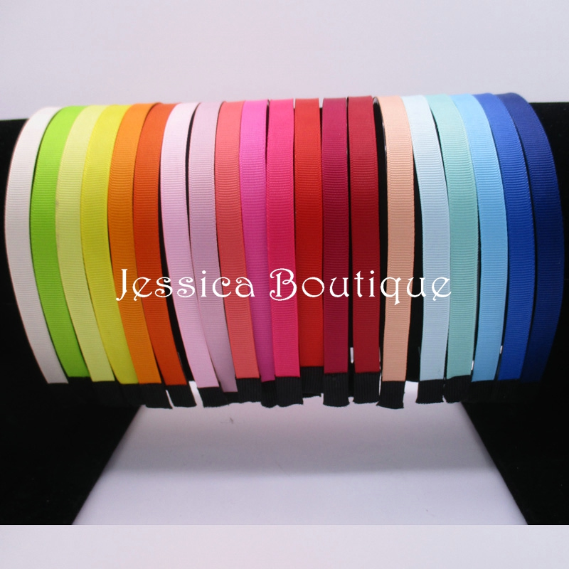 50pcs10MM Plastic hairbands Ribbon Covered Headbands With Teeth Fabric Cover Resin Headband For Girls Woman Hair Accessories(China (Mainland))