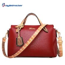 100% гарантия натуральная кожа женщины сумка крокодил змеиной шаблон дизайнерский бренд сумки высокое качество сумка