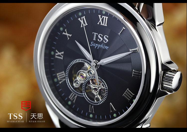 2016 Роскошные TSS Бренд мужские Часы Автоматические Механические Часы кожа 100 м Водонепроницаемый Мужской Повседневная Бизнес Наручные Часы Часы