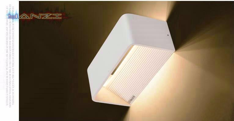 Купить Для поверхностного монтажа настенный светильник 6 Вт теплый белый из светодиодов бра спальня ночники свет современный минималистский белая стена AC85-265V