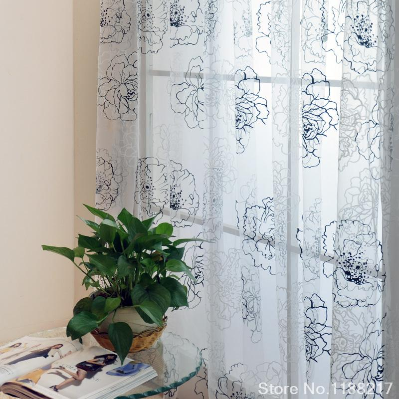 ... curtains gauze screens bedroom curtain fabric-in Curtains from Home