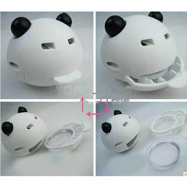 ChinaStock Cute shape Panda head bottle outlet car perfume(China (Mainland))