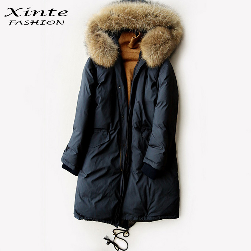 Online Buy Wholesale women down coats real fur trim from China