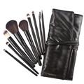 Selljimshop New Black Makeup Brushes Professional Eye Eyebrow Shadow Powder Lipsticks Cosmetics Tools 9Pcs Bag fFreeshipping
