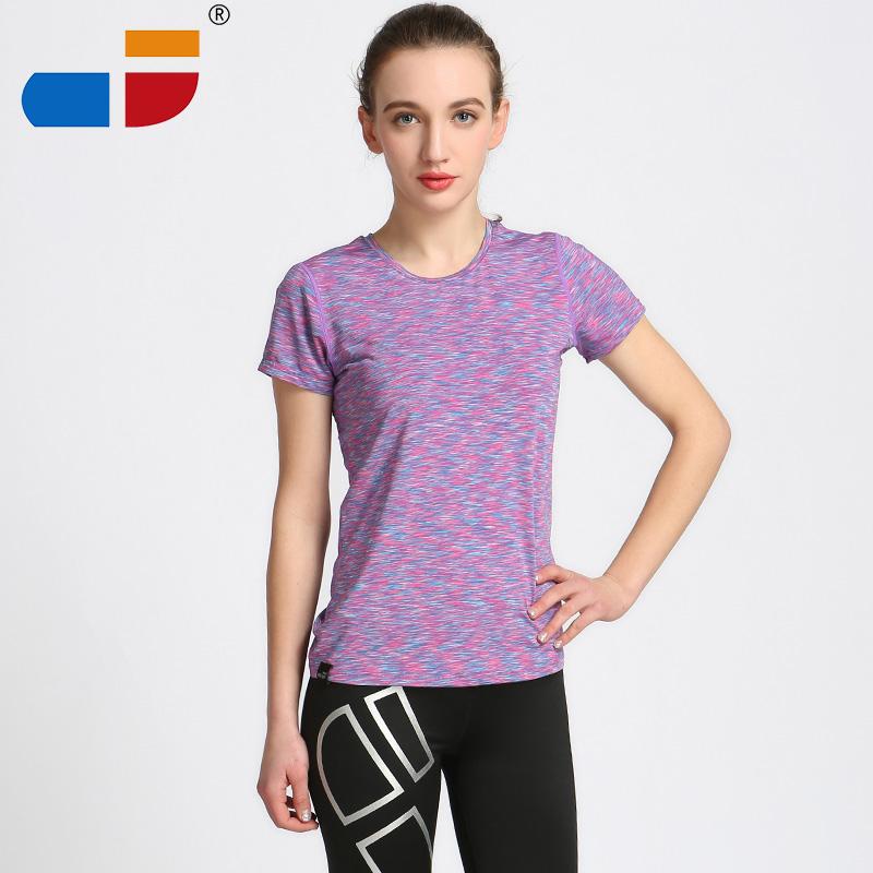 2016 Dry Quick gym t shirt compression tights women's sport t shirts running short sleeve t-shirts fitness women t-shirts & tops(China (Mainland))