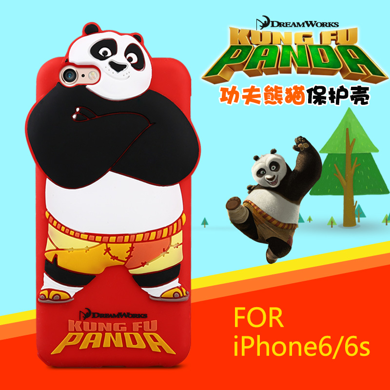 Case for Apple iphone 6 / 6s TPU silicone case Kungfu panda cartoon all-round silicon gel protective cover shell funda coque(China (Mainland))