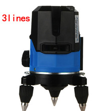 Borka 3 líneas 2V1H red 3 puntos 1 mm / 5 m línea láser de precisión cross line laser rotary nivel laser 360 degree autonivelante nivel láser