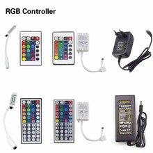 10 17 20 24 44 key RGB LED Strip Remote Controller / 3A 5A DC12V Power Supply Adapter For LED Strip light SMD 5050 3528(China (Mainland))