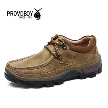2017 New men outdoor hiking high quality shoe cow genuine leather trekking mens sport sneakers fishing camping comfortable shoes(China (Mainland))