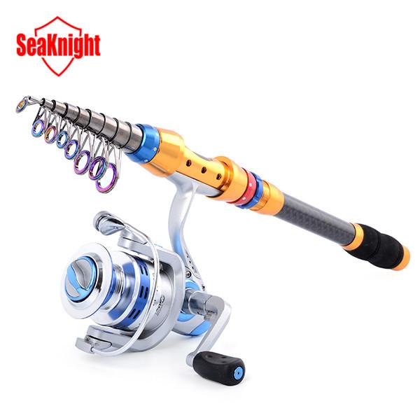 New Portable 3.6M 99% Carbon Sea Telescopic Fishing Rod + SeaKnight 4000 Series 13BB Spinning Fishing Reel Fishing Tackle Set(China (Mainland))