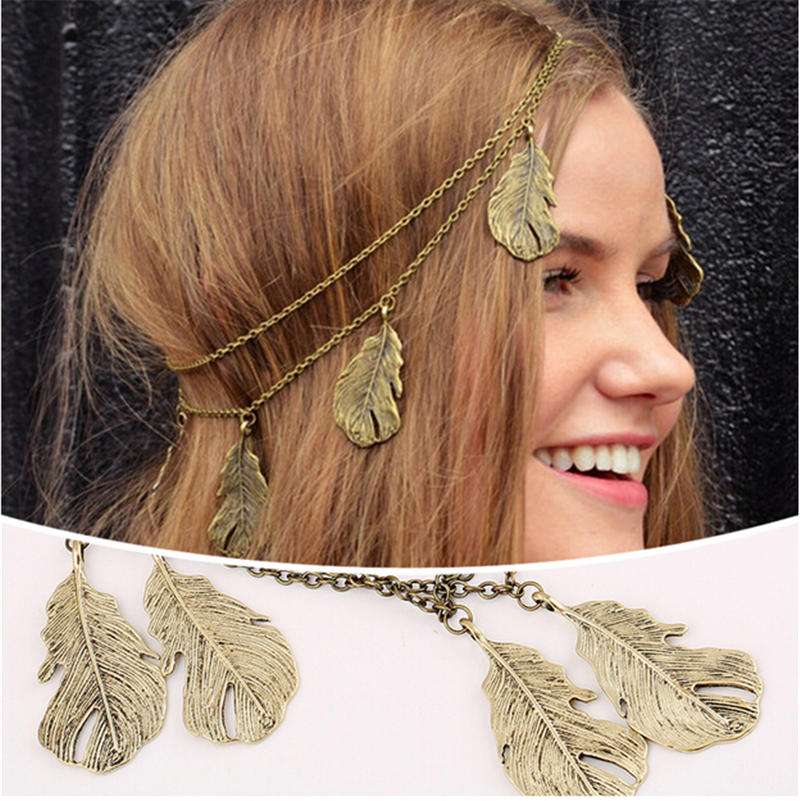 Vintage Jewelry Women Head Chain Antique Bronze Crown Headband Hair Accessories HA263(China (Mainland))