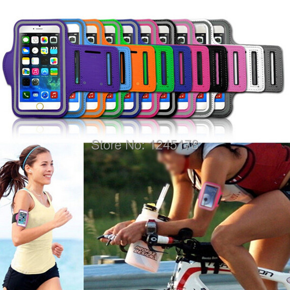 Hot Sale Running Gym Sport Armband For iPhone6 iPhone 6 6G 4.7inch Arm Band Protector Belt Soft Case 10 Colors Wholesale(China (Mainland))