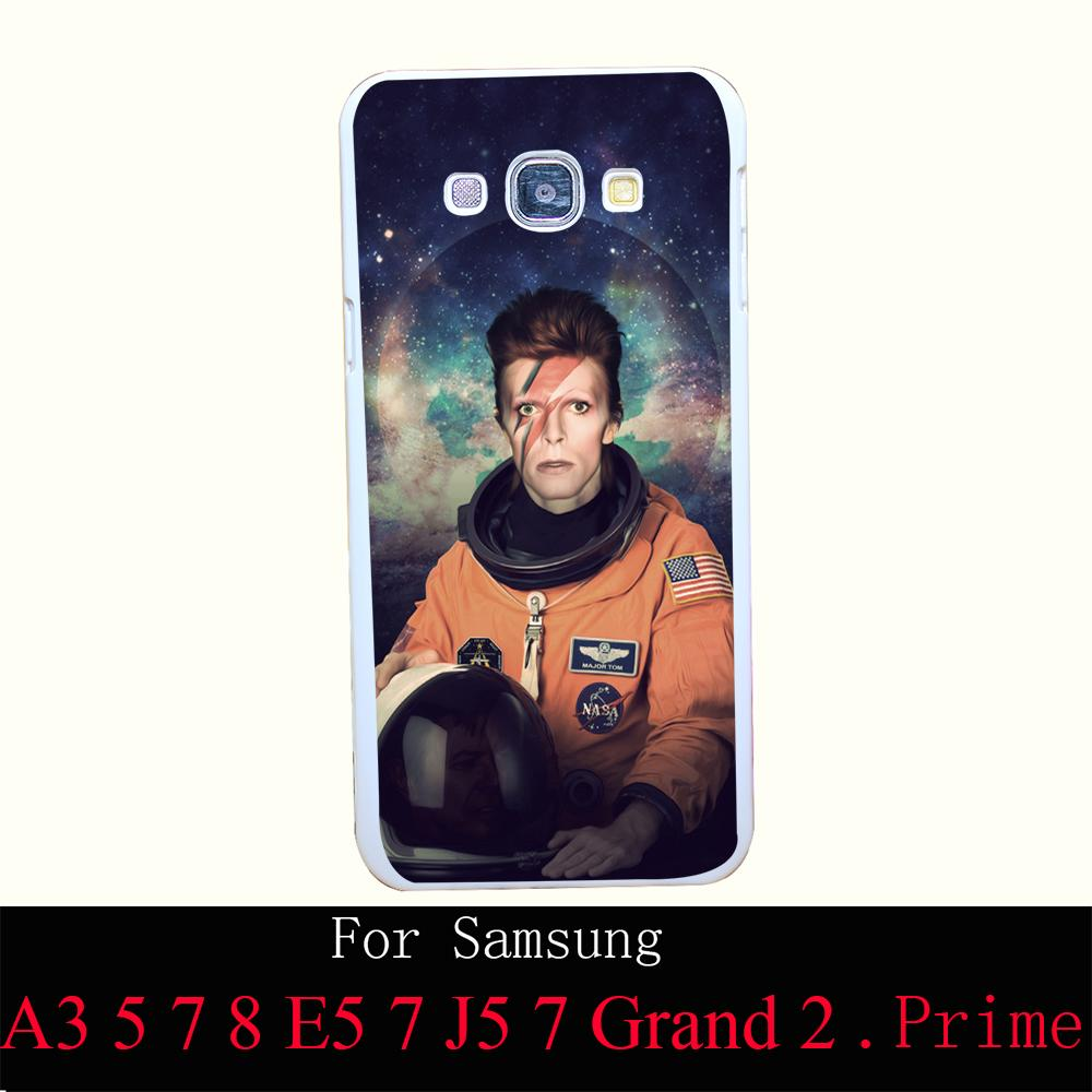 359SQB david bowie major tom hellip Hard White Back Painted Case Cover for A3 A5 A7 A8 E5 7 J5 7 Grand 2 & Prime(China (Mainland))