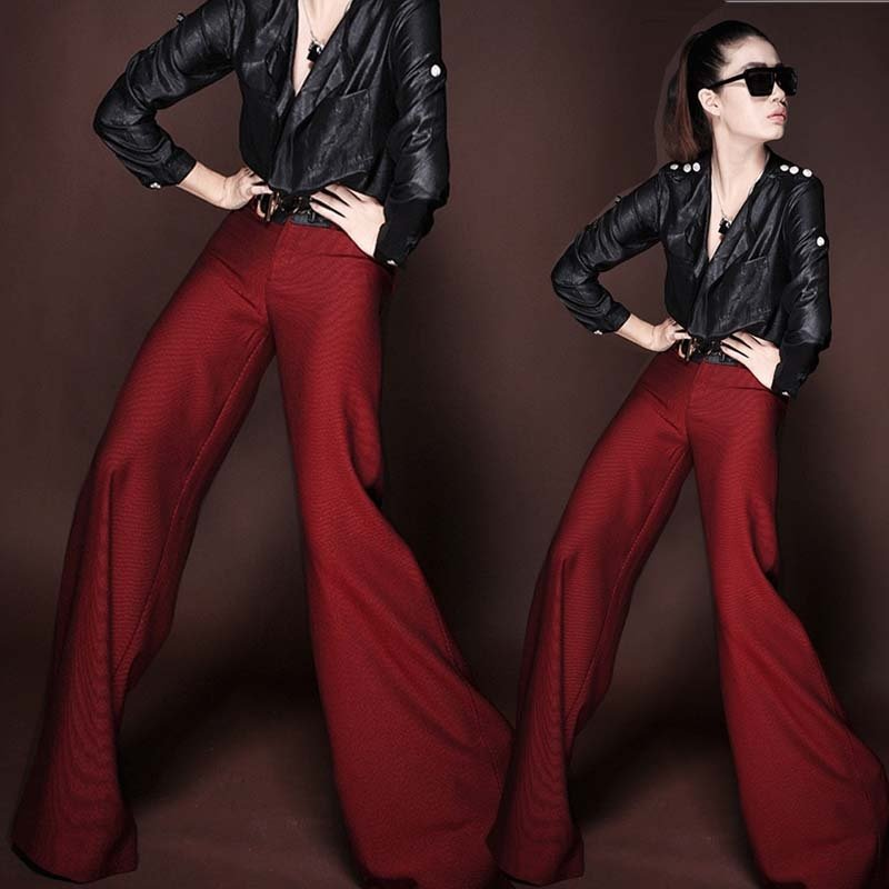 Compare Prices on Womens Wide Leg Formal Pants- Online Shopping ...