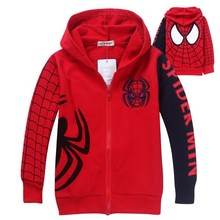 1pc Retail 2014 Spring Autumn Children's Coat boys Spiderman hoodie jackets Kids cartoon Clothes baby outerwear free shipping(China (Mainland))