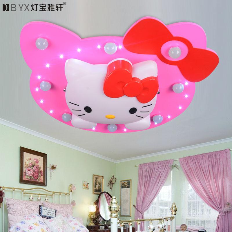 2016 new Cartoon Kitty Cat children room Ceiling Lights girl Princess bedroom  lighting LED romantic warmth<br><br>Aliexpress