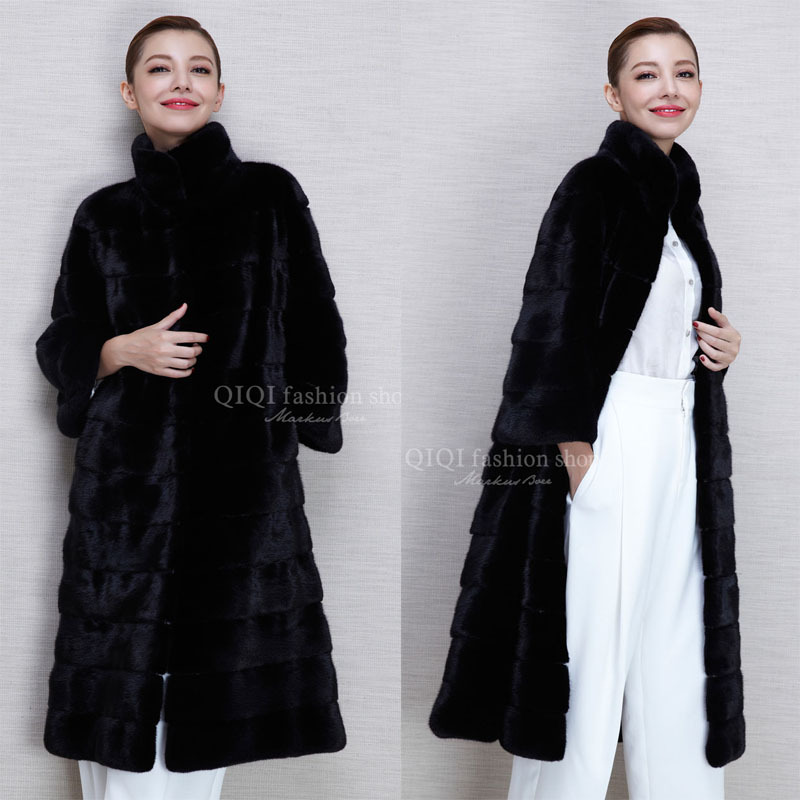 X-Long Thick Fur Coat Women's Fur Jacket Winter Overcoat Rabbit Faux Fur Outerwear New 2016 Fashion Style(China (Mainland))