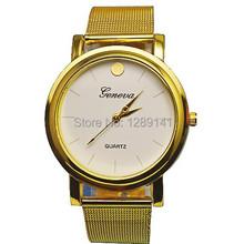 New Fashion Women Gold Luxury Metal Mesh Bangle Digital Quartz Wristwatches Relojes Lujo Men Brand Casual Ladies Dress Watch