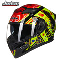 JIEKAI 316series double lens motorbike helmet DOT ECE approved motorcycle helmet 8 color available for man