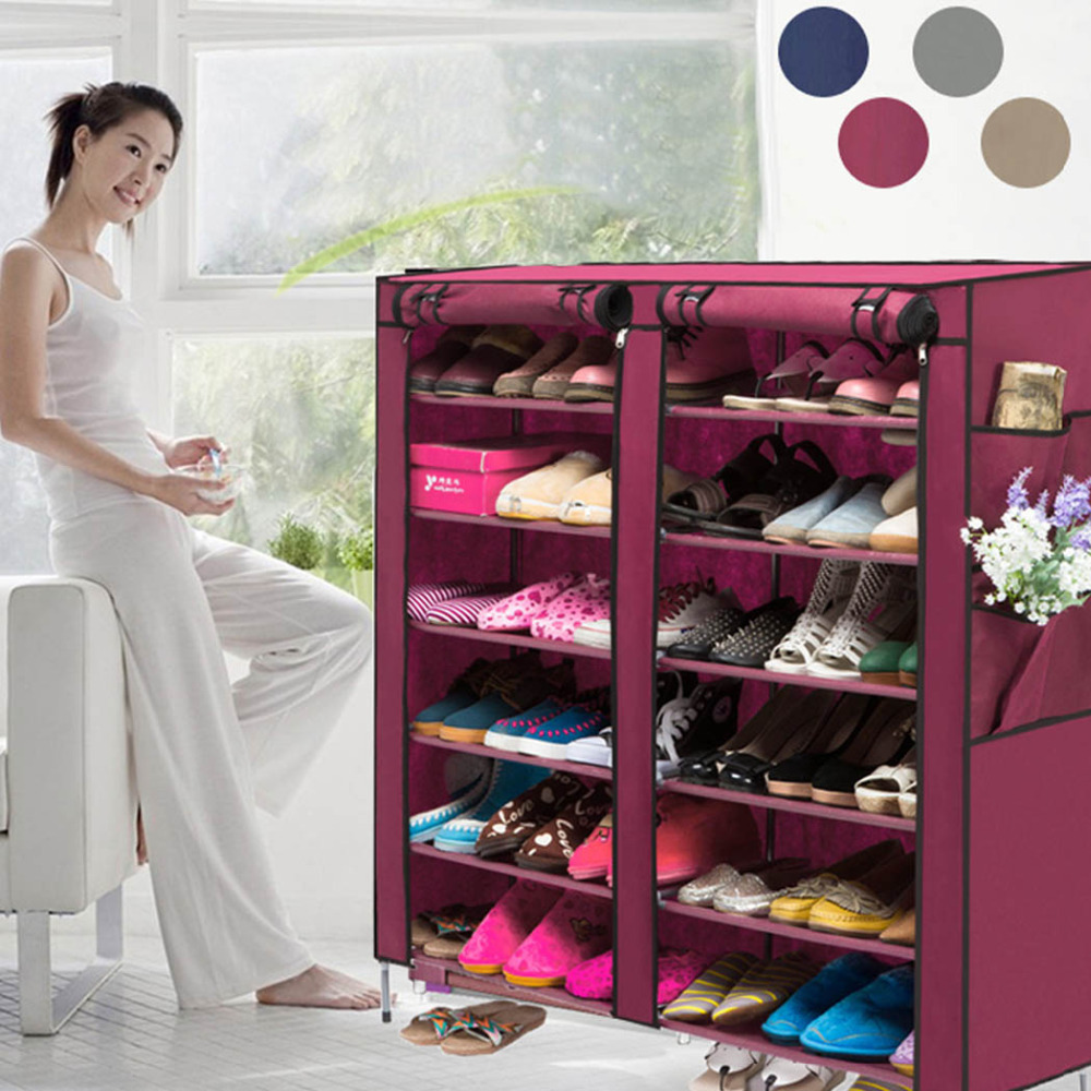 US Stock Portable Home Shoe Rack Shelf Shoe Storage Closet Organizer Cabinet 6 Layer 12 Grid<br><br>Aliexpress