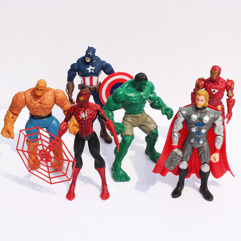 9-13cm Avengers figures toys doll Captain America Thor hulk Iron man Spiderman Action Figure Toy - China Lucky Child Co., Ltd. store