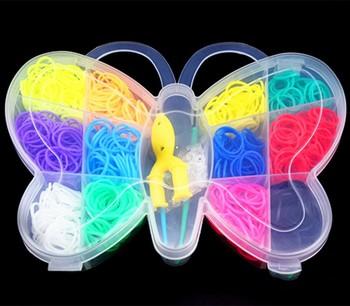 600 шт. DIY комплект резинки для браслетов силиконовые резинки браслеты оптовая продажа фабрики резинка для плетения браслетов резинки для плетения