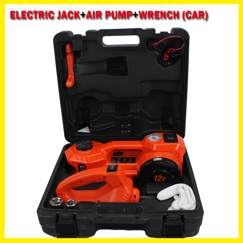 electric hydraulic floor multifunctional Jack with inflator function and electric wrench suit 3t sedan (Anti-freezing function)(China (Mainland))