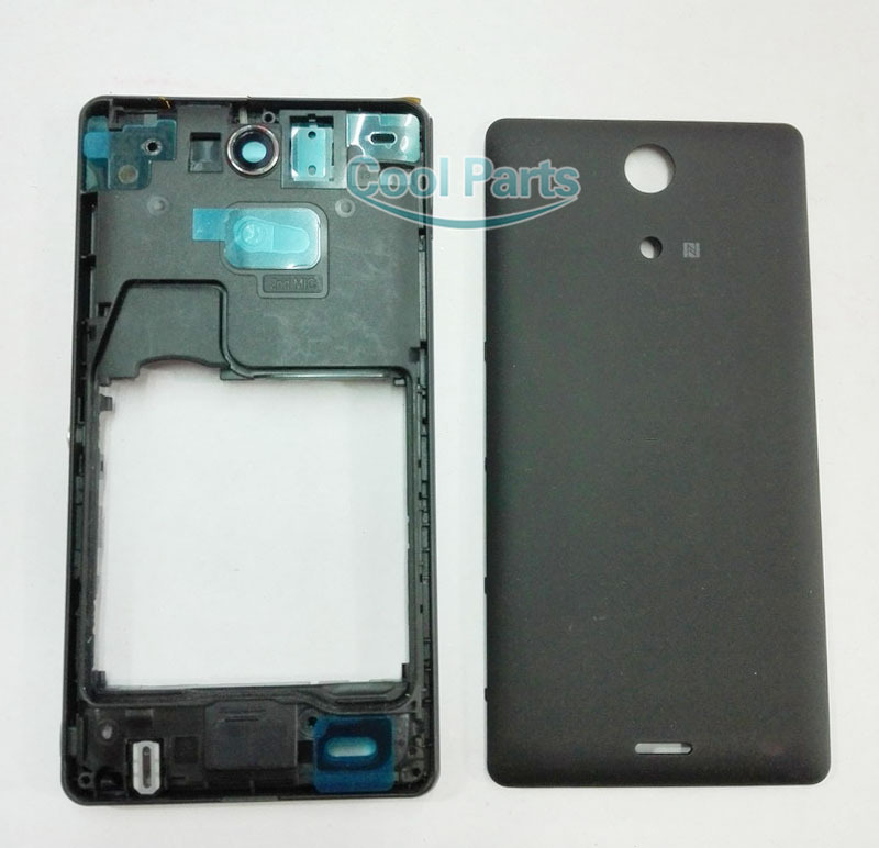Original Full Housing For Sony Xperia ZR M36H C5503 Middle Frame Bezel With Dust Plug+ Back Cover Battery Door Free Shipping(China (Mainland))