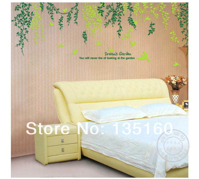 Green vine DIY removable pvc wall sticker art home decoration sticker warm family Eco-friendly wall self-adhesive paster