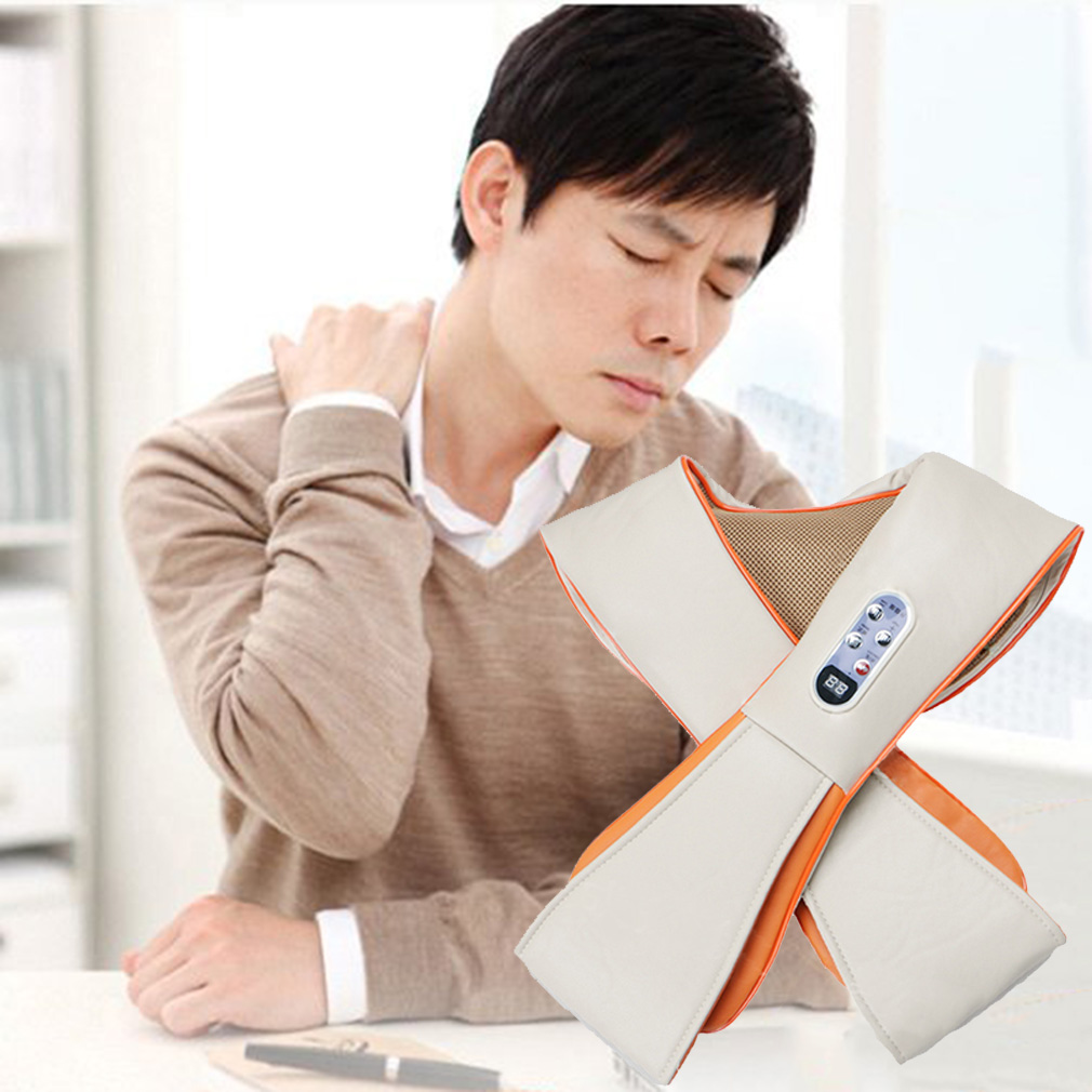 High Quality Multifunction Health Care U Shape Electrical Tapping Massager New Neck Shoulder Waist Back Neck Massager Household(China (Mainland))
