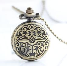 12pcs/lot Vintage watch Necklace Pocket Watch.heavy metal design watch.(China (Mainland))