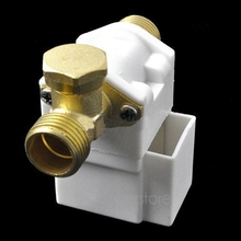 Free Shipping New Electric Solenoid Valve For Water Air N/C 12V DC 1/2(China (Mainland))