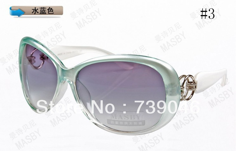 Women to restore ancient ways big box uv protection sunglasses Travel mirror The driver mirror Water is blue sunglasses 3025(China (Mainland))
