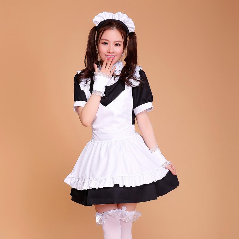 Halloween Costumes for Women Coffee House Waitress Uniforms Cute Girl dress Anime Maid Cosplay Costume(China (Mainland))