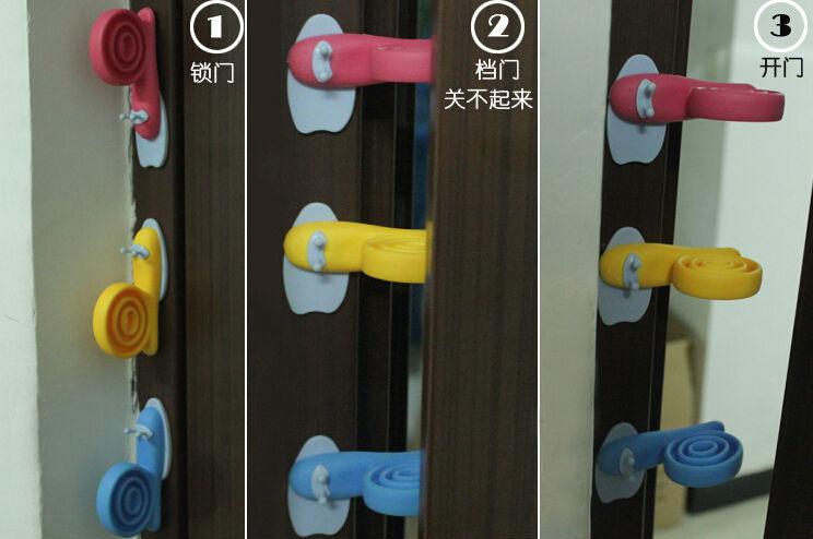 12 шт. / много улитка стиль милый комикс окрашенный животное модель ветрозащитный дверь клип младенцы любимый пластик дверь стоп T2003