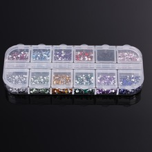 F9s 2015 New Portable 3600pcs Nail Art Rhinestones Decoration 1 5mm Round Glitters With Hard