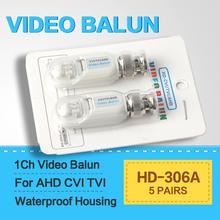 5Pairs HD 720P/1080P AHD HDCVI HDTVI BNC Connector To UTP Cat5/5e/6 Video Balun Passive Transceivers Adapter Transmitter 200m