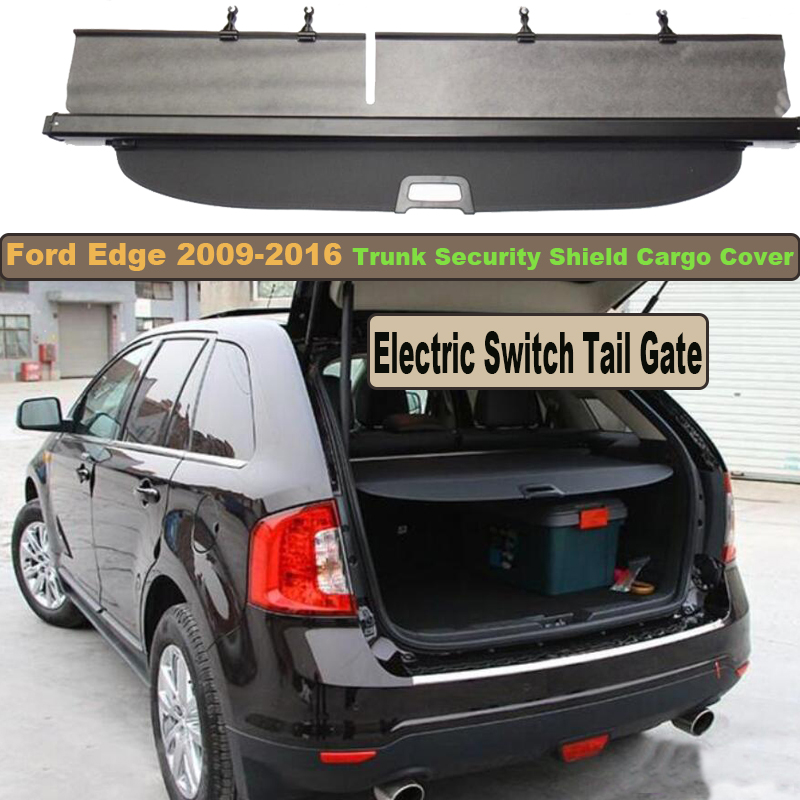 Фотография Rear Trunk Security Shield Cargo Cover For Ford Edge 2009-2016 Electric Switch Tail Gate PARCEL SHELF SHADE TRUNK RETRACTABLE