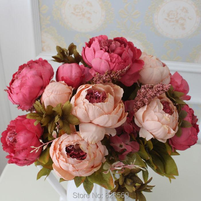 Hight quality silk flower european 1 bouquet artificial flowers fall getsubject aeproduct mightylinksfo