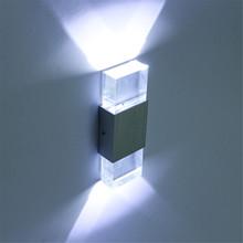 Moderno 4 W led baño aplique de luz alta caja de aluminio de calidad, cristal acrílico lámpara de pared dormitorio salón pared de la casa(China (Mainland))