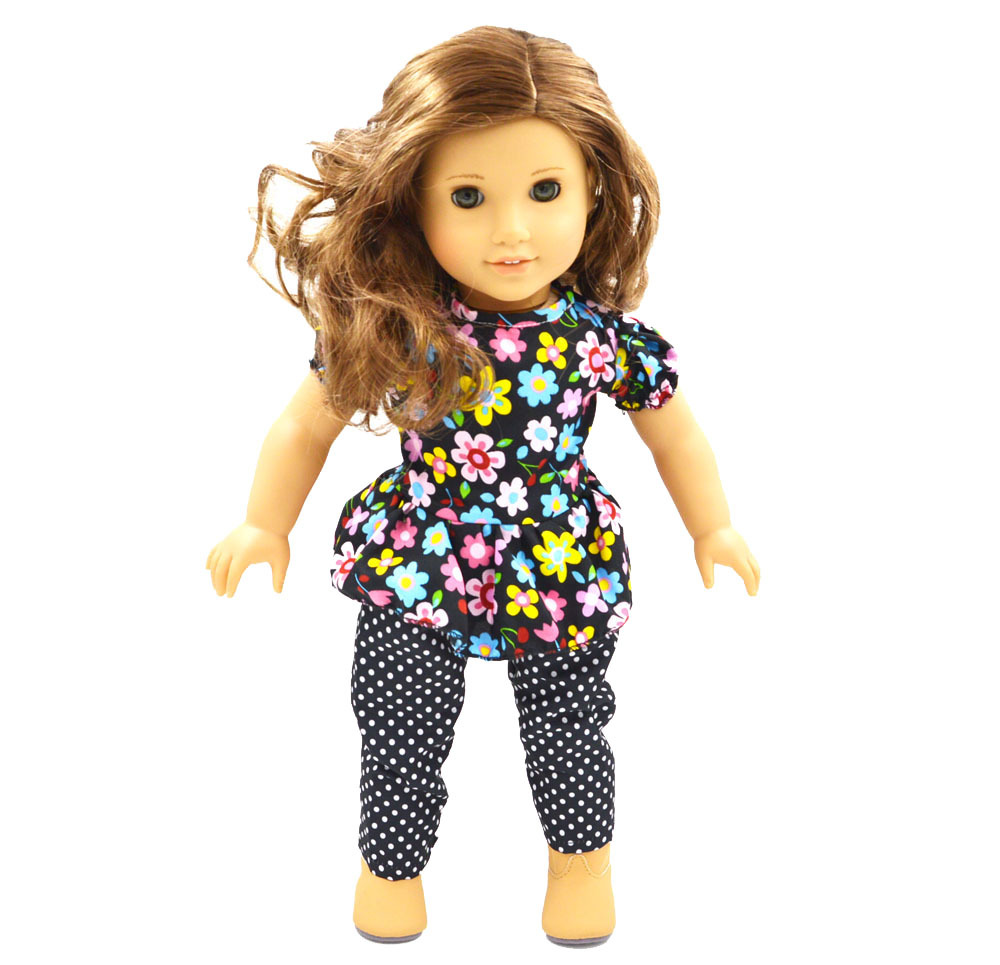 """Free Shipping! New mix color Party flower printed Dress Doll Clothes For 18"""" American Girl Handmade(China (Mainland))"""