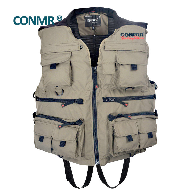 CONMR QF 1909 Famous brand Fishing vest jacket clothing for adult men outdoor hunting skiing Drifting Upstream Surfing 50(China (Mainland))