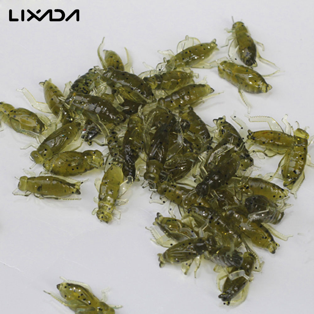 20Pcs/lot 0.8g 2cm Artificial Soft Fishing Lures Cricket Insect Bait Lifelike Fishing Lure Soft lure Baits Insect Leurre Peche(China (Mainland))